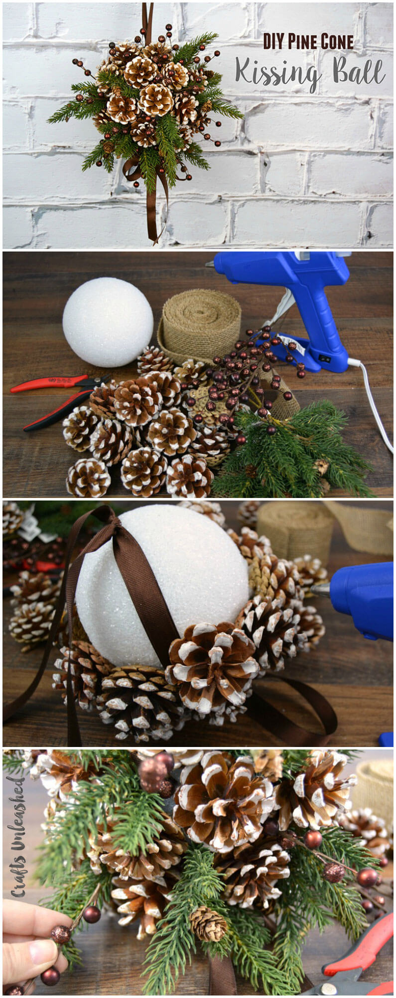 Ditch the Mistletoe! DIY Kissing Ball