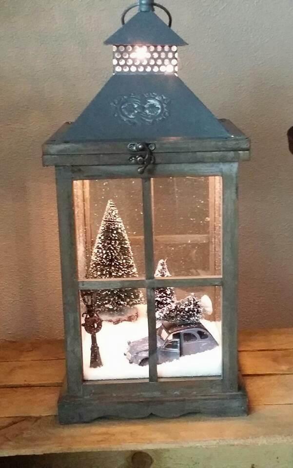 Sweet Little Winter Scene Lantern
