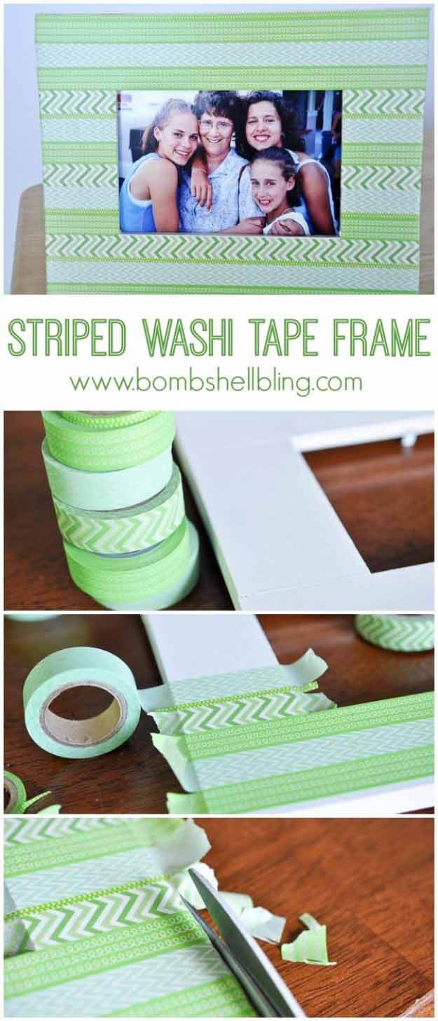 Washi Tape Makes an Old Frame New