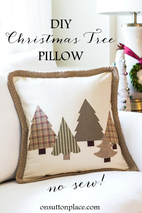 Simple No-Sew DIY Christmas Décor