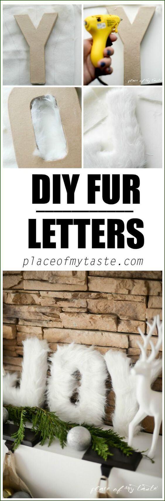 Easy Fashion-Forward Faux Fur Letters