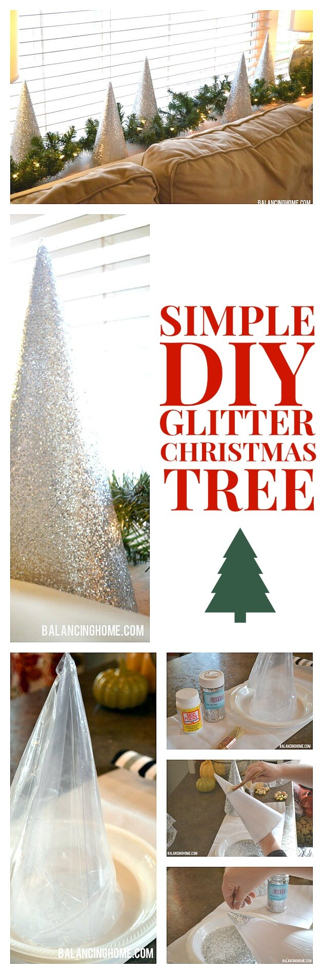Quick and Cute Glitter Christmas Tree