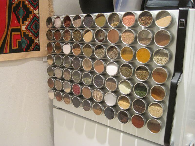 Merveilleux Turn Your Fridge Into Magnetic Spice Storage