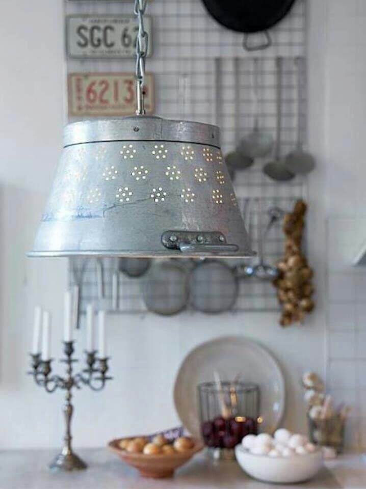 Perforated Milk Pail Pendant Lamp