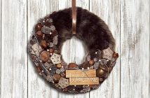 Faux Fur Christmas Wreath Tutorial