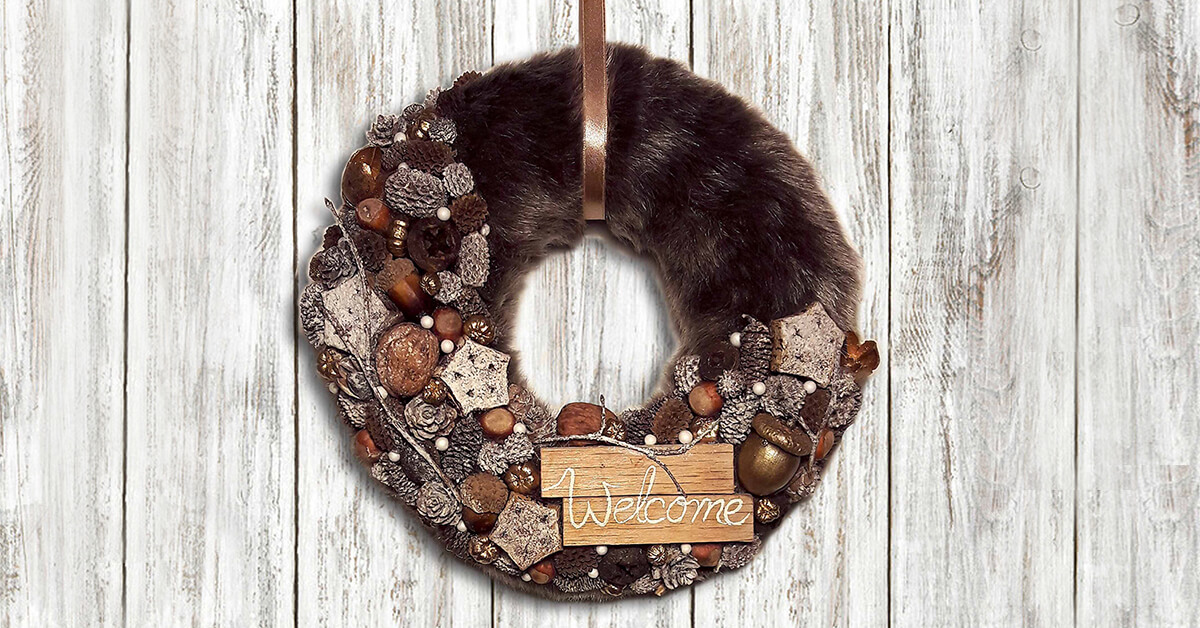 Diy Faux Fur Christmas Wreath Homebnc