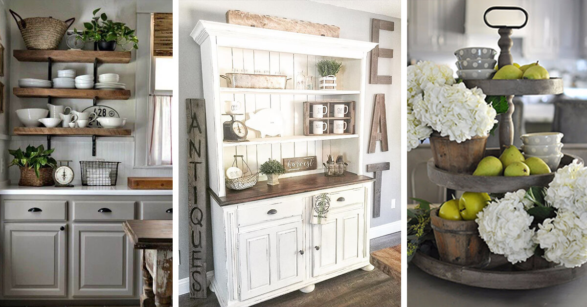 38 best farmhouse kitchen decor and design ideas for 2019 for Farmhouse kitchen design pictures
