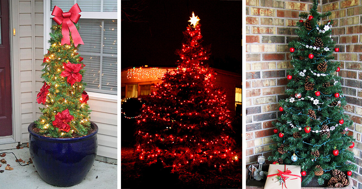 22 best outdoor christmas tree decorations and designs for 2018