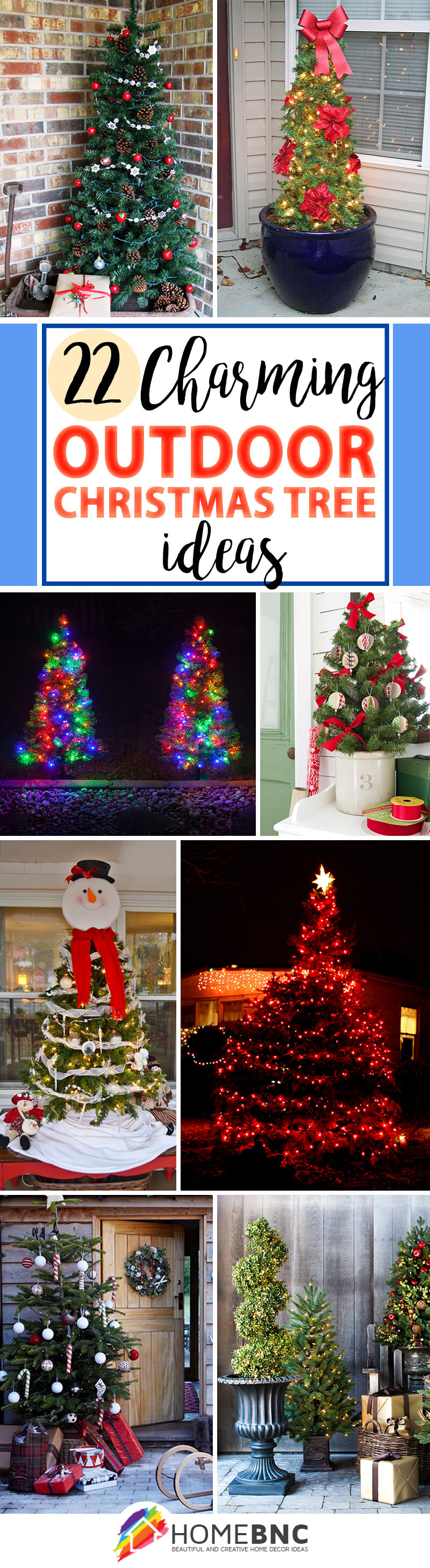 Outdoor Christmas Tree Design Ideas