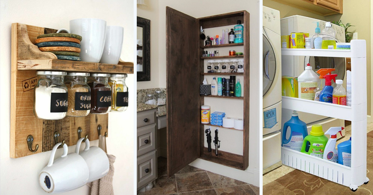 35 best storage ideas and projects for small spaces in 2018