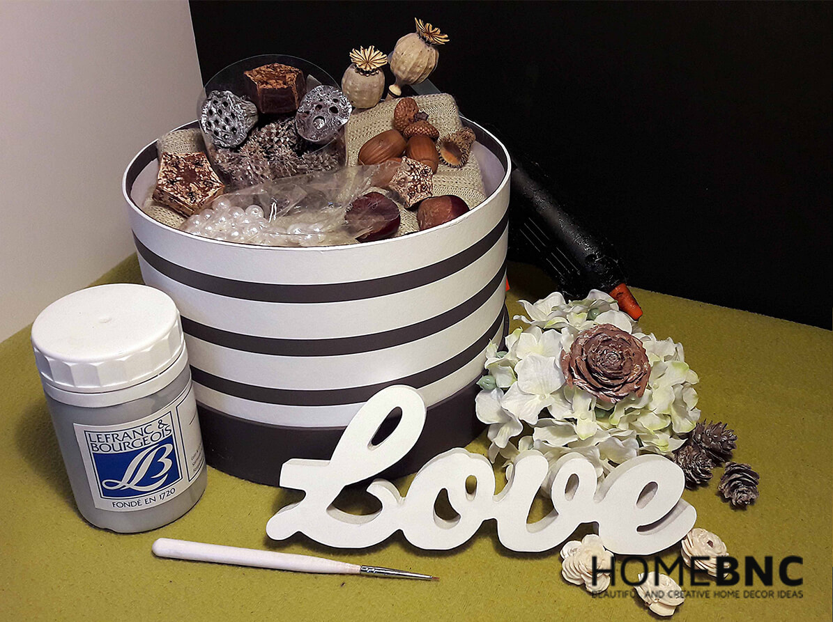 DIY-Geschenkbox mit Liebe gefüllt