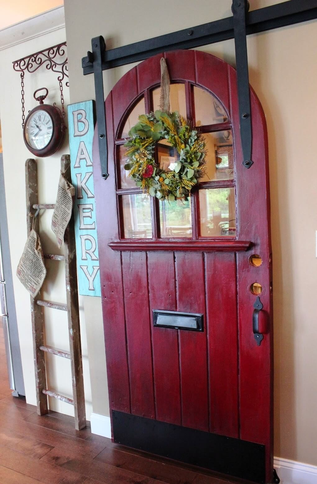 Round Top Door Lends Magic and Mystery - 33 Best Repurposed Old Door Ideas And Designs For 2018