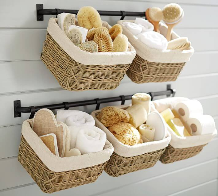Amazing Storage Ideas To Organize Your Small Bathroom Style - Bathroom basket ideas for small bathroom ideas