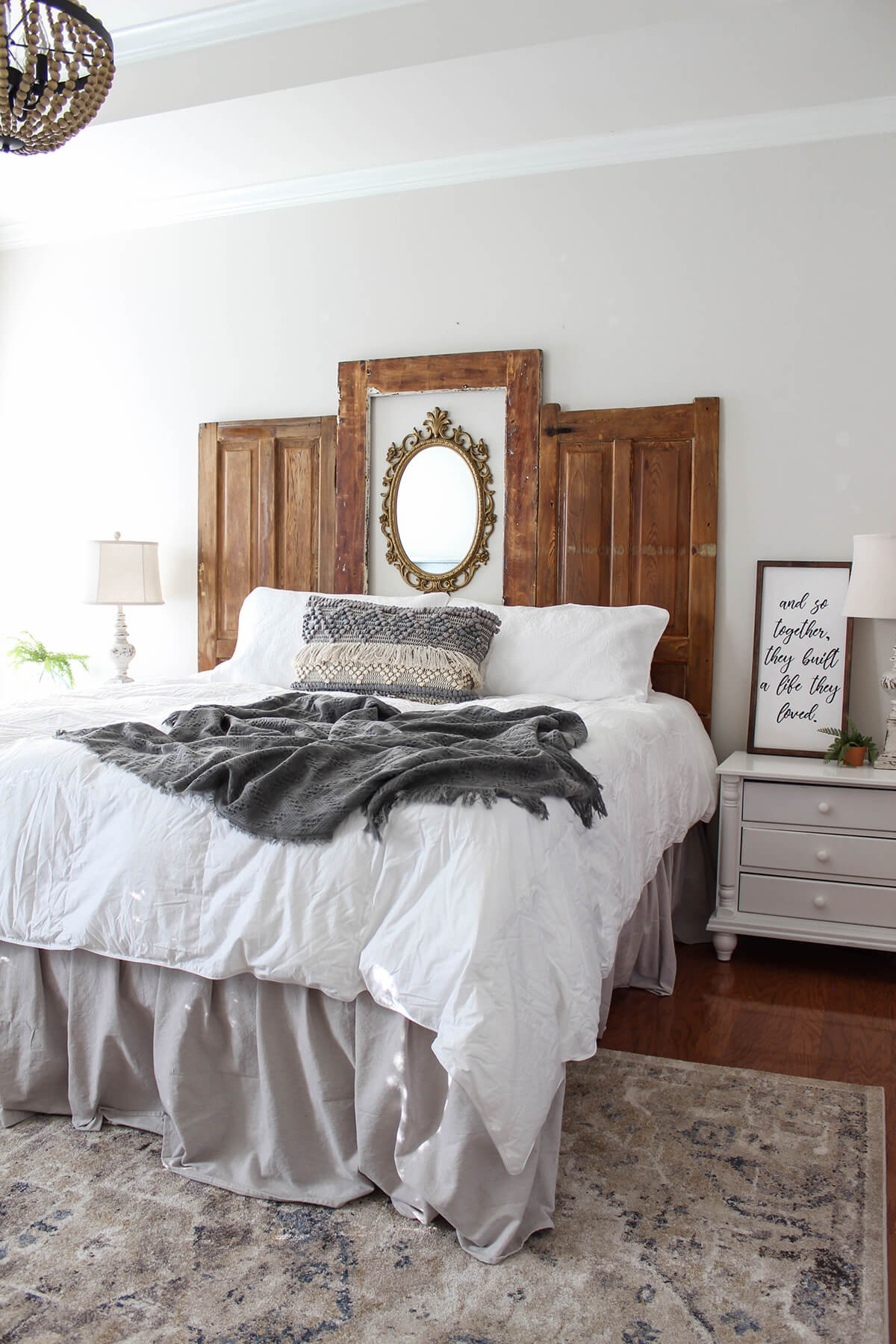 Headboard DIY with Series of Doors