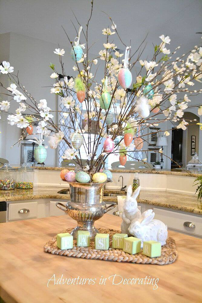 27 best diy easter centerpieces ideas and designs for 2018 How to make an easter egg tree