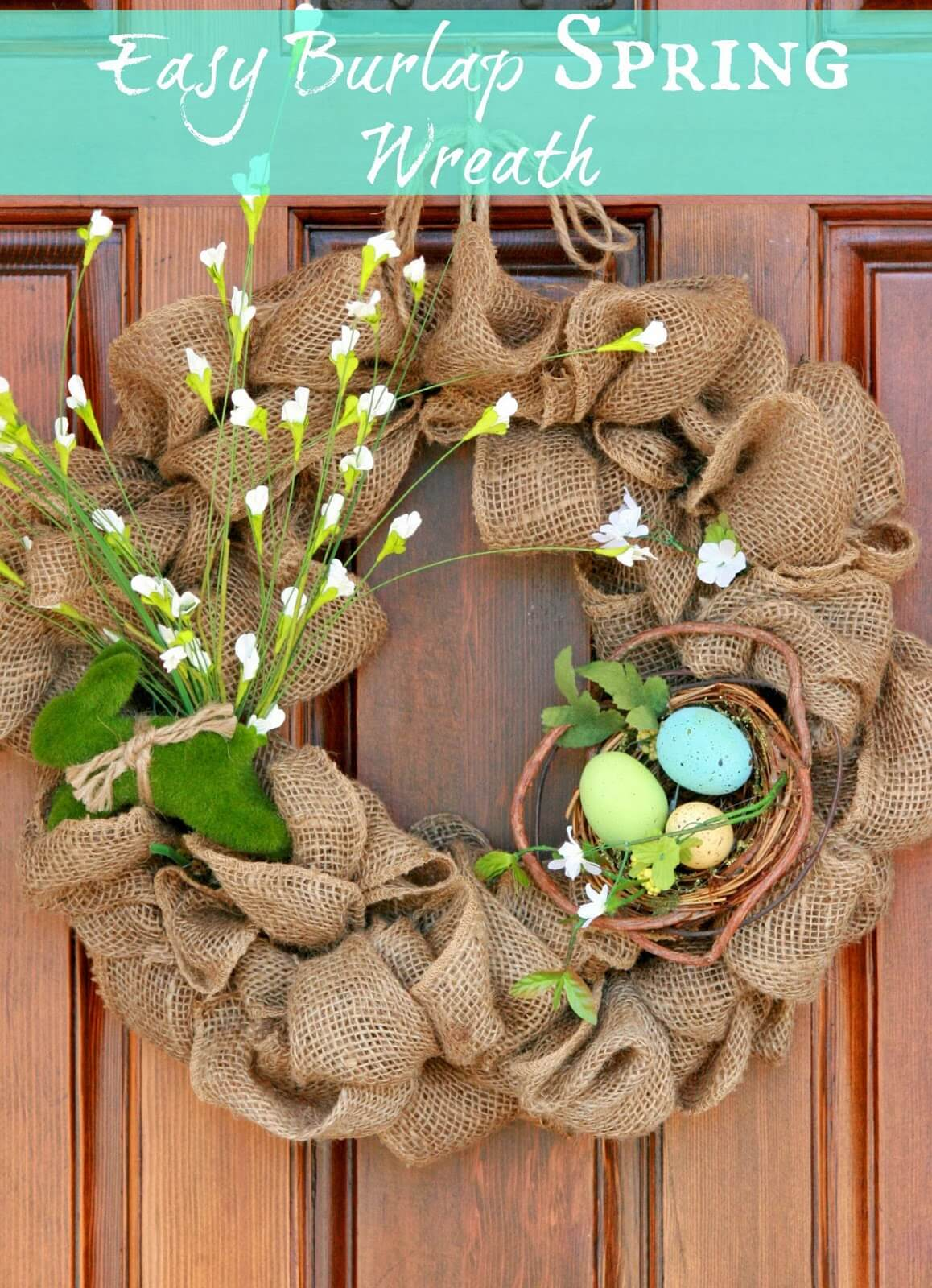 Rustic Burlap Wreath for Sprin