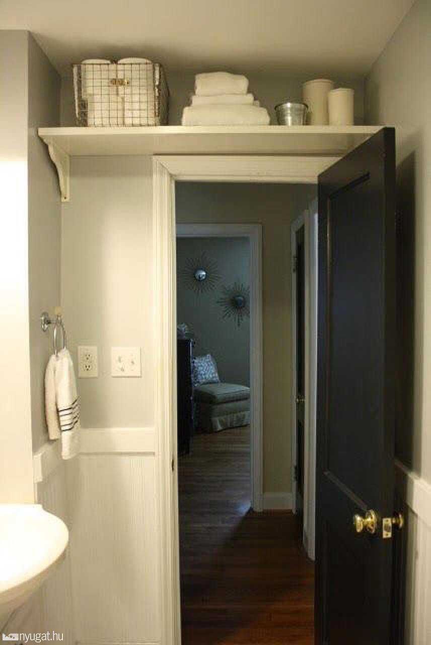 Storage in small bathroom - 2 Ladder Not Included