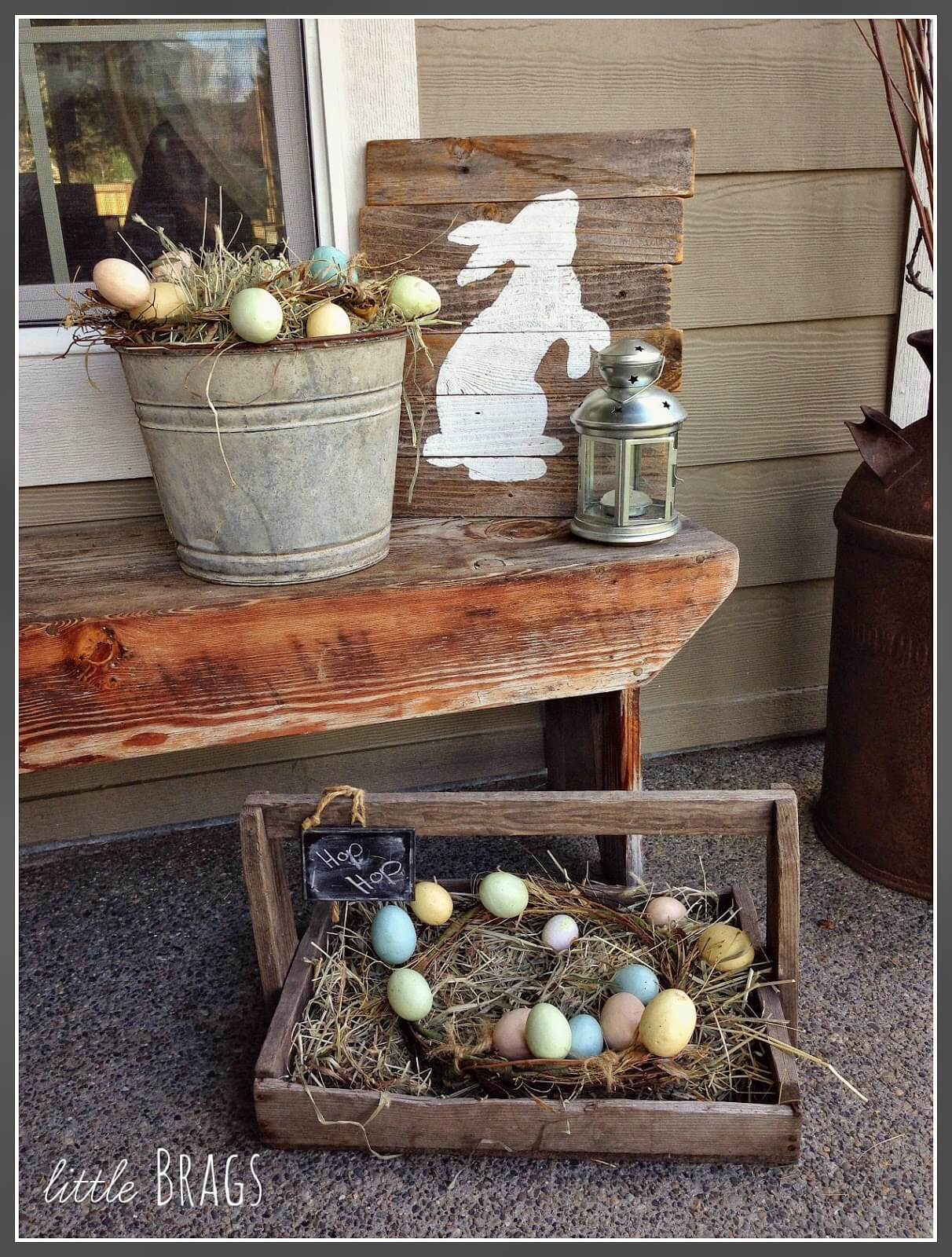 Easter Bunny Nest with Eggs
