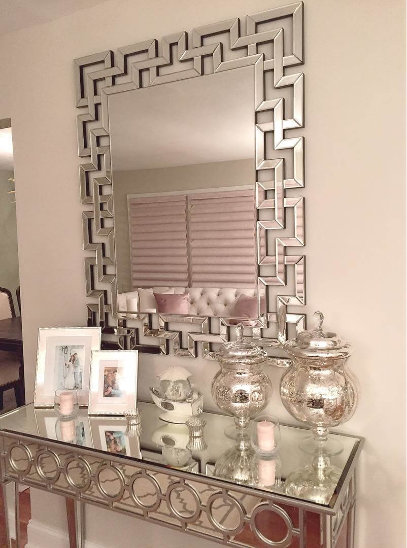 Perfect Mirrored Art Deco Table For The Entryway