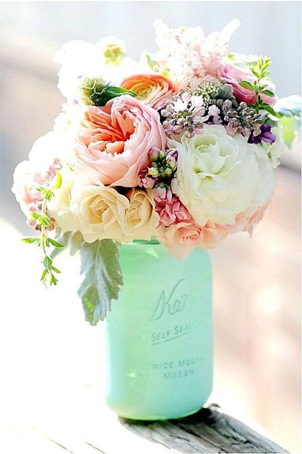 Easter Centerpieces Part - 19: Jolie Mason Jar Spring Bouquet