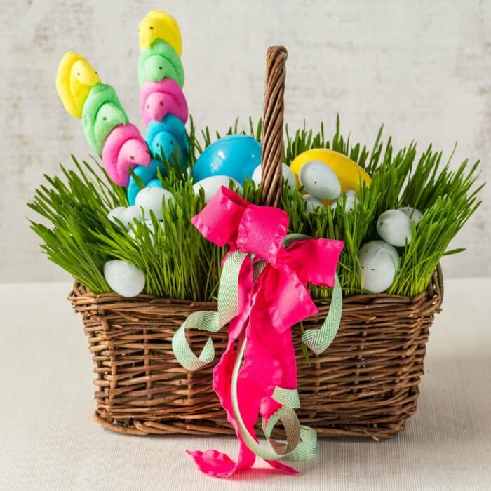 Pretty Lush Grass Filled Easter Basket