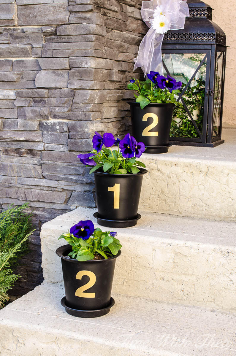 House Number Flower Pot Decoration & 32 Best Spring Porch Decor Ideas and Designs for 2018