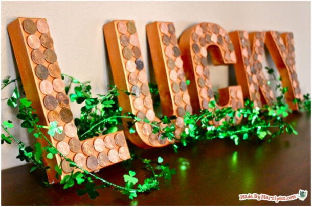 DIY Lucky Penny Wall Art