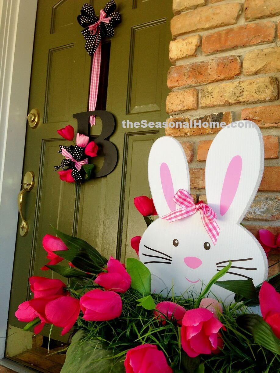 23 best easter porch decor ideas and designs for 2018 for Home easter decorations