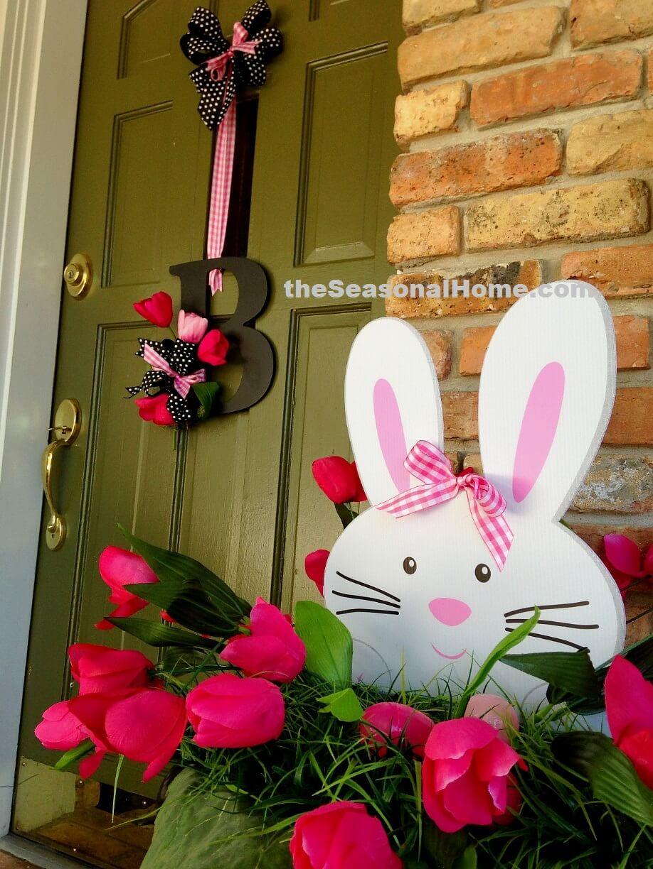 Tulip Bunny Porch Decor