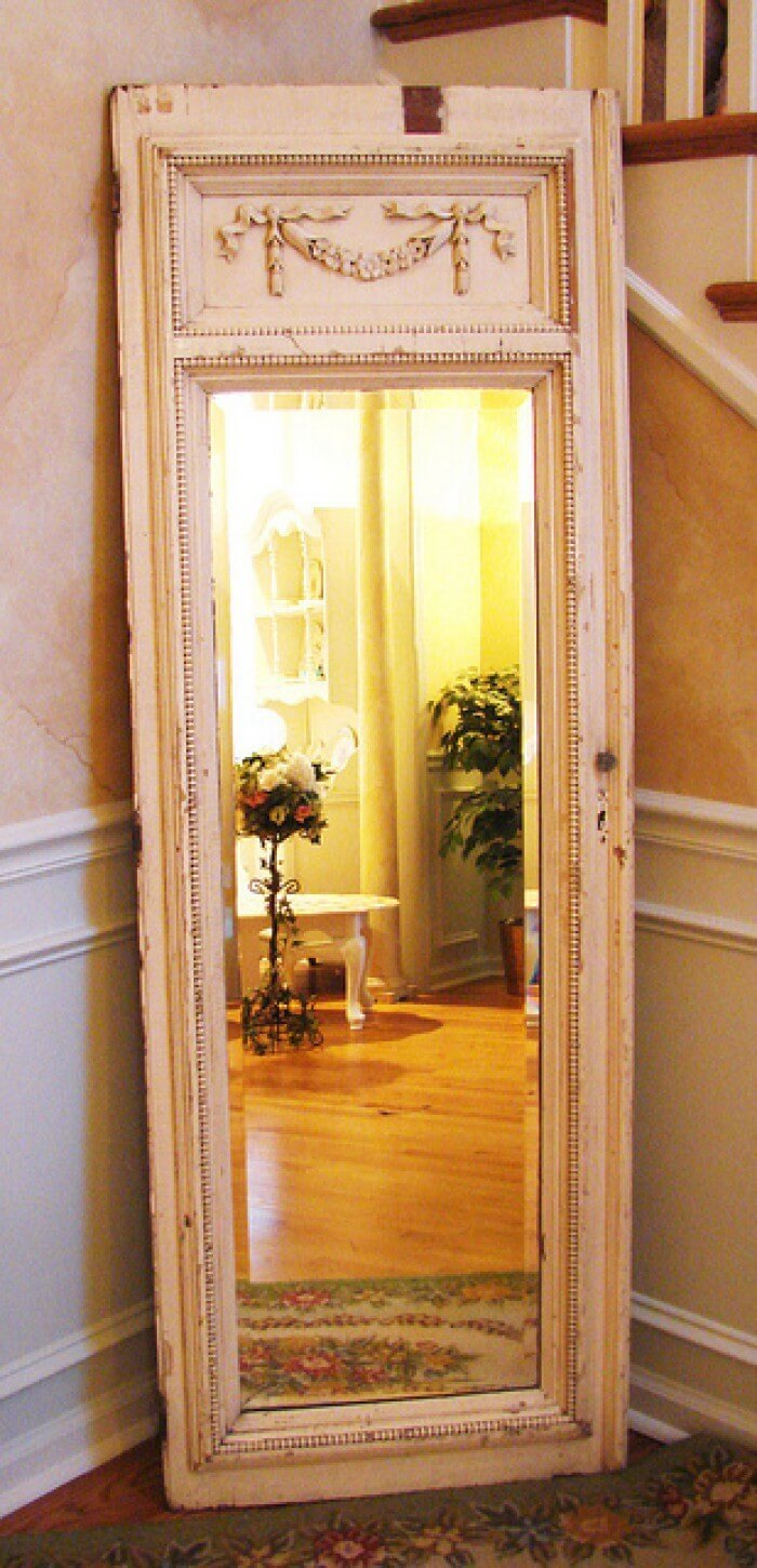 Classical Panel Framed Full-Length Mirror