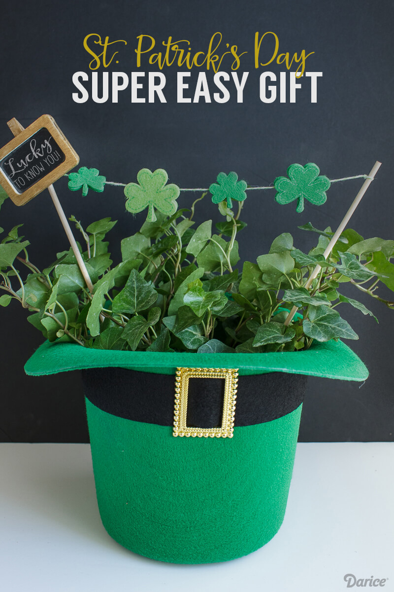 st patricks day hat planter - St Patricks Day Decorations