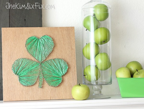 8 shamrock string art diy project - St Patricks Day Decorations