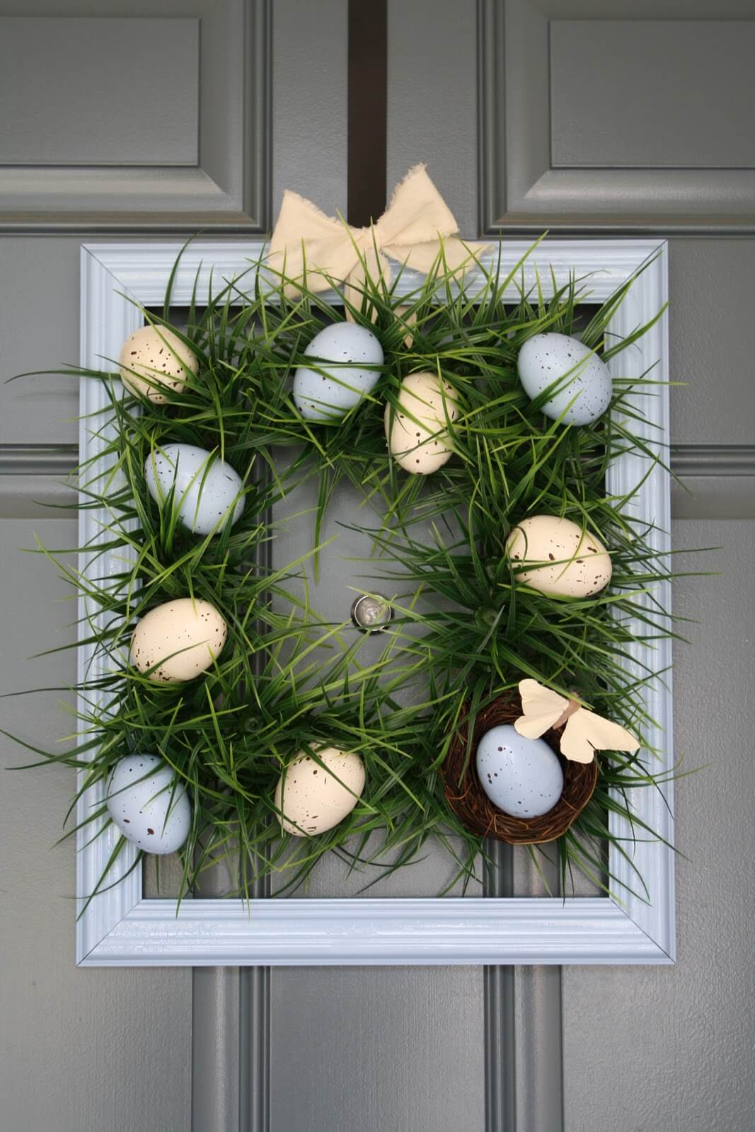 easter decorating ideas to beautify your easter DIY Easter Decorations: 17 Ideas How to Make a Cute Easter Door Wreath