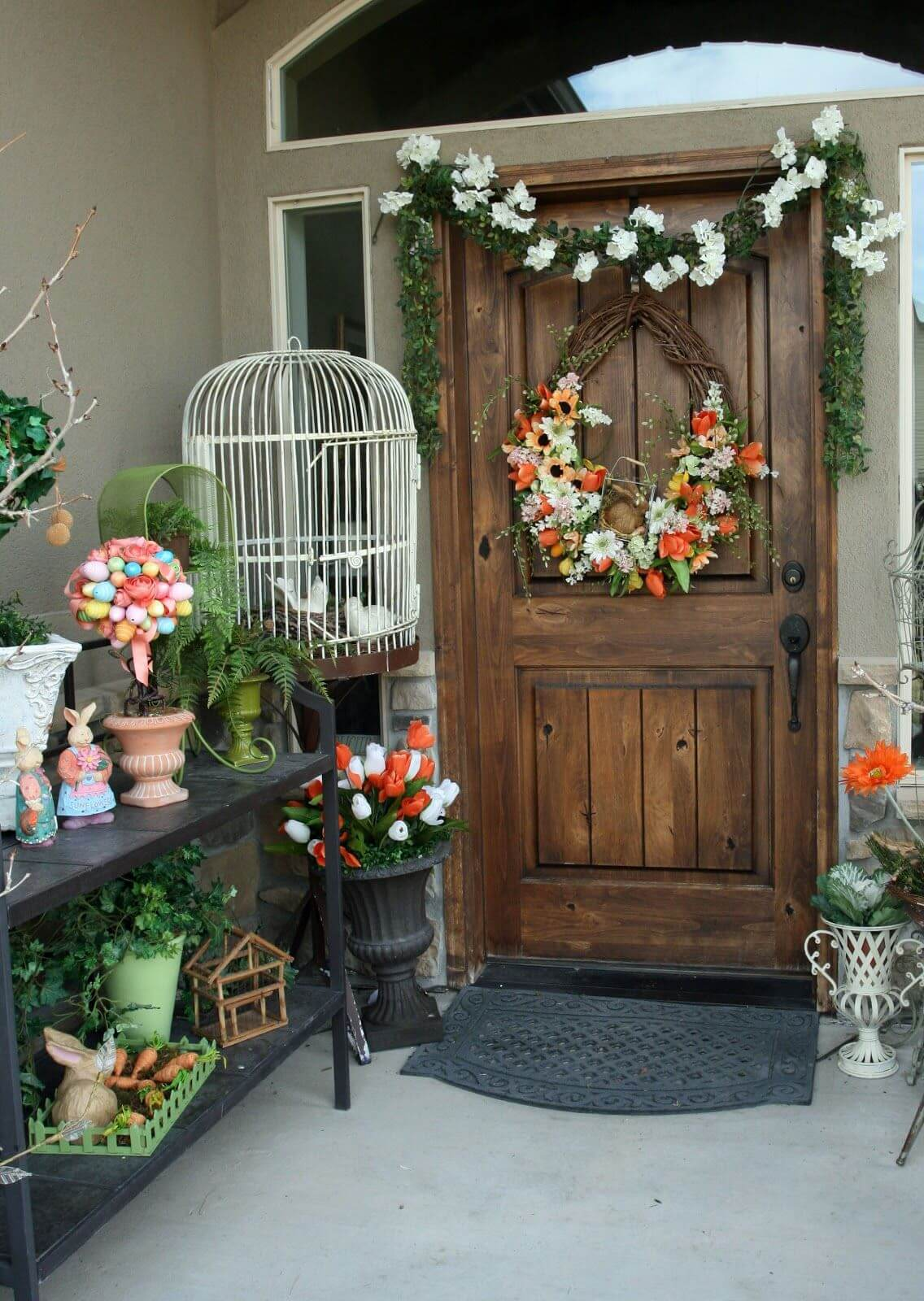23 best easter porch decor ideas and designs for 2017 - Outdoor decorating ideas ...