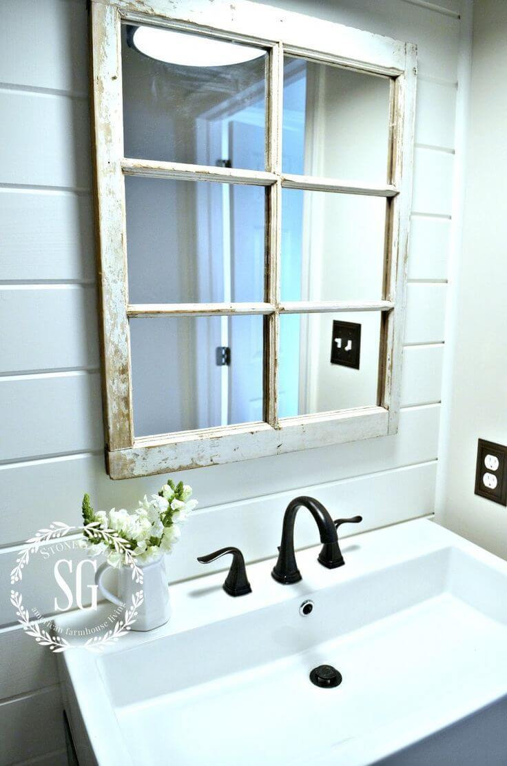 Old Frame, New Bathroom Mirror