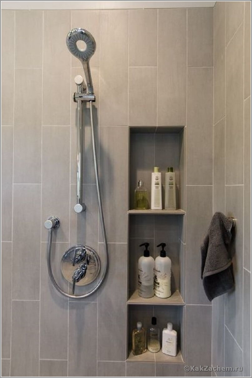Small bathroom storage ideas - 9 Build It Right Into The Wall