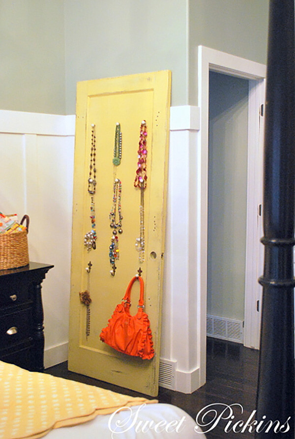 Jewelry Holder from Old Door
