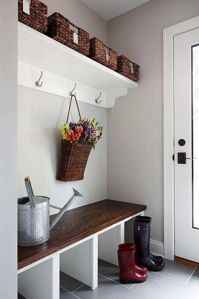 contemporary and simple mudroom dcor - Mudroom Design Ideas