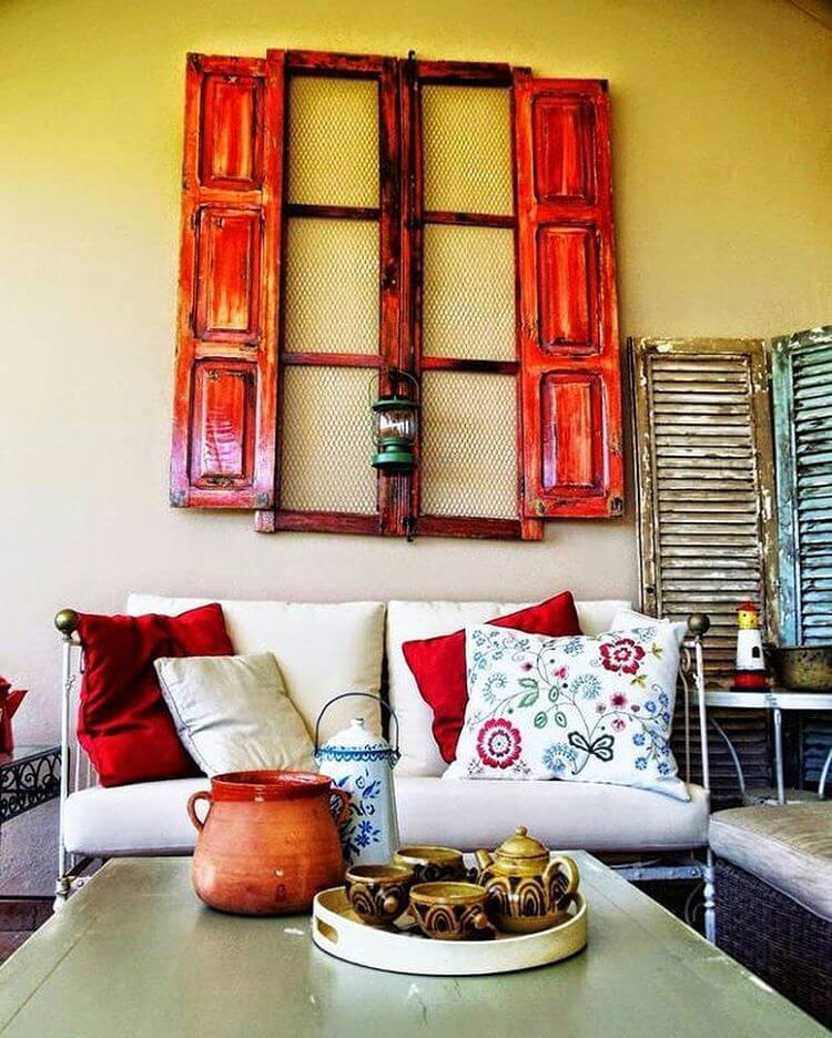 Shutters And A Window Frame Go Together