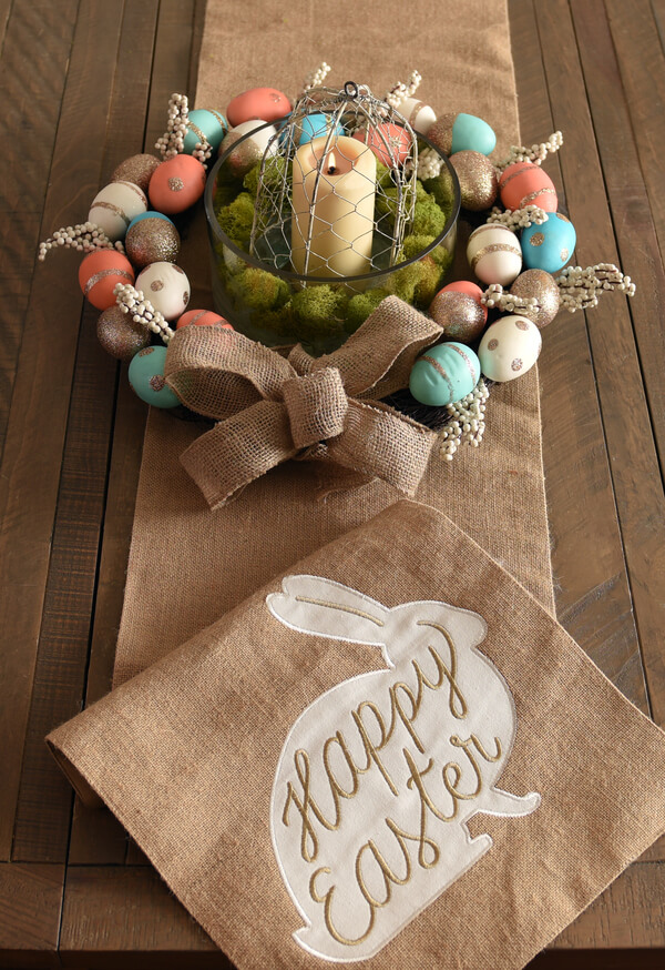 Rustic Easter Egg Candle Wreath