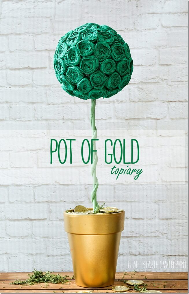 Super Simple Pot of Gold Topiary