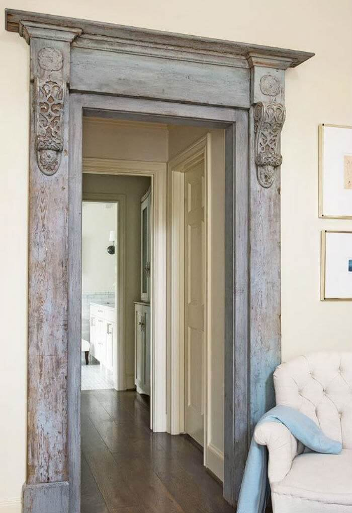 Ornate Victorian Mill Work Door Frame