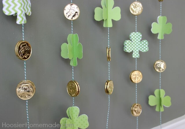Cute Coin and Shamrock Garland