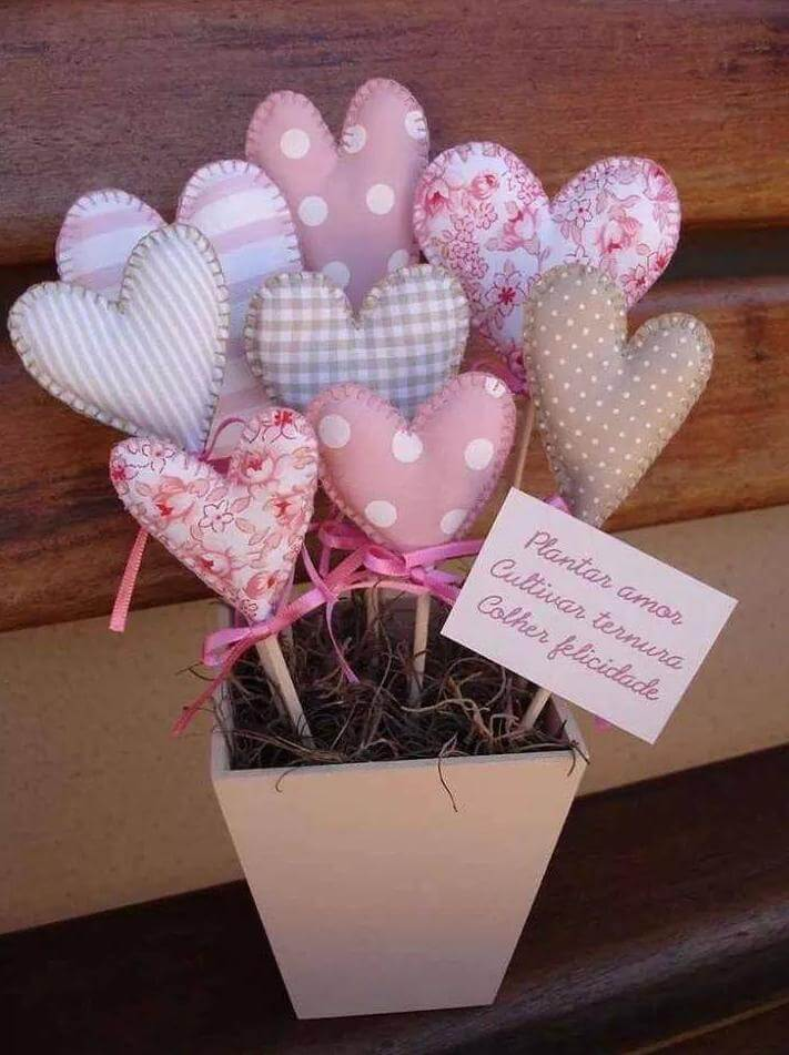 Bouquet of Quilted Heart Pillow Pops