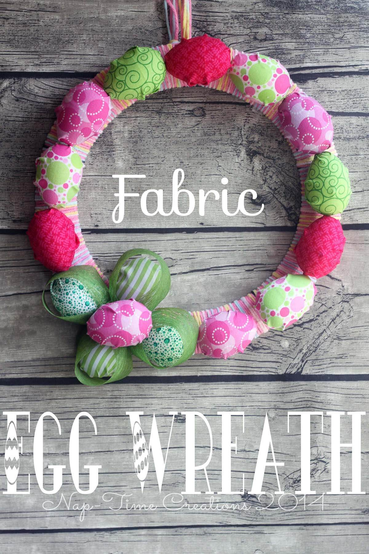 DIY Fabric Easter Egg Wreath