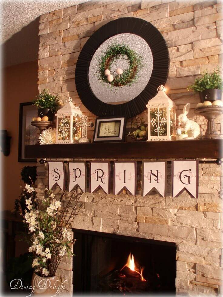 Bring Spring Indoors With Cheery Mantel Decor