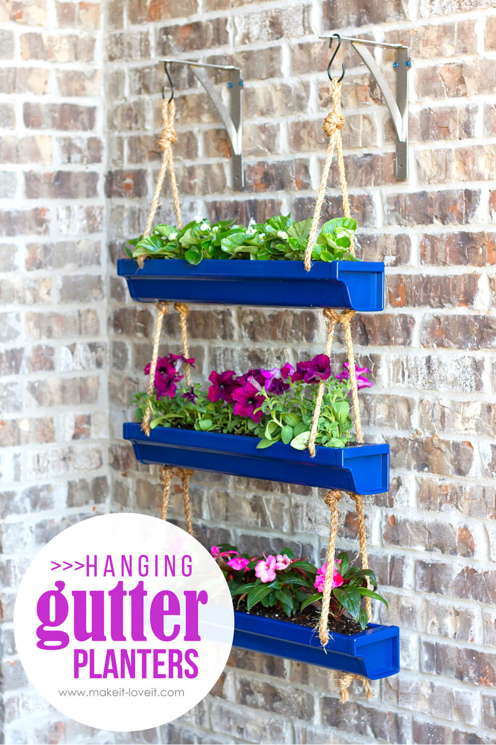 DIY Hanging Gutter Planters Project