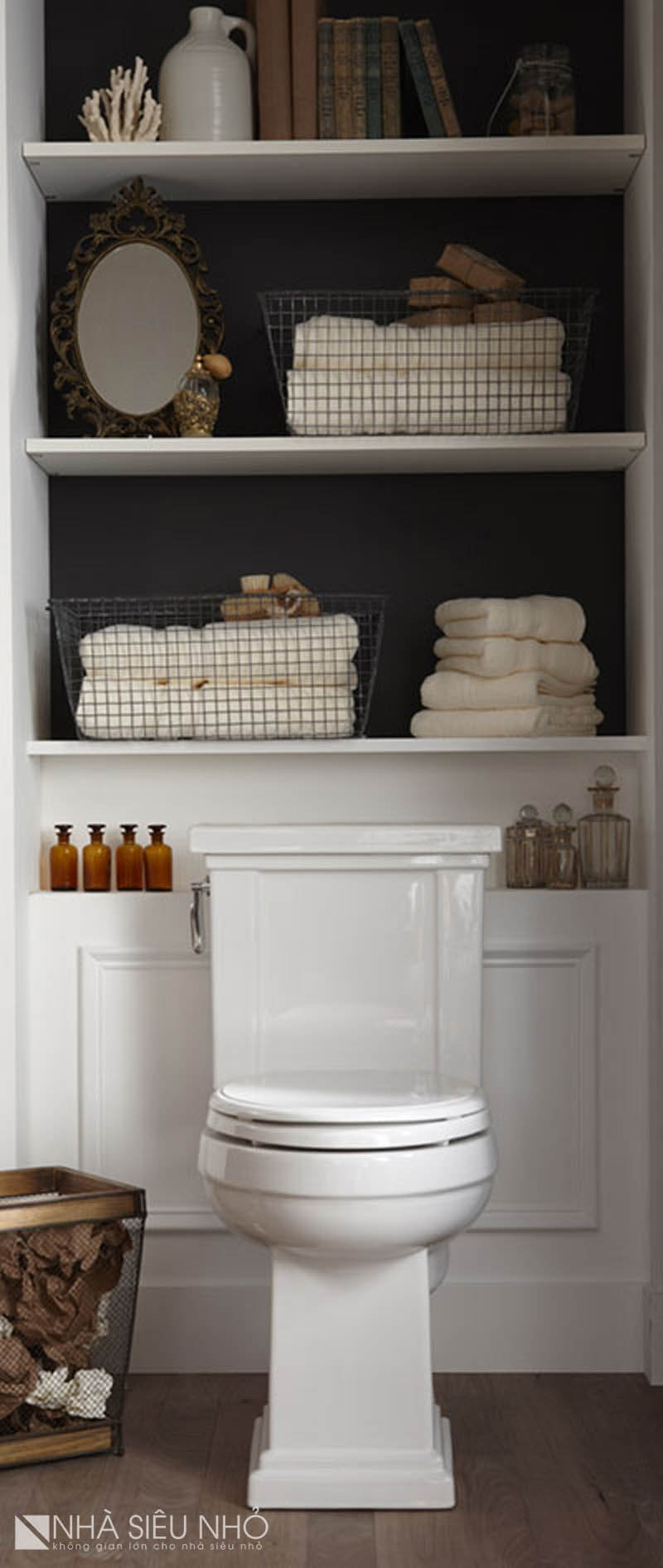 wooden corner cabinet for small bathroom