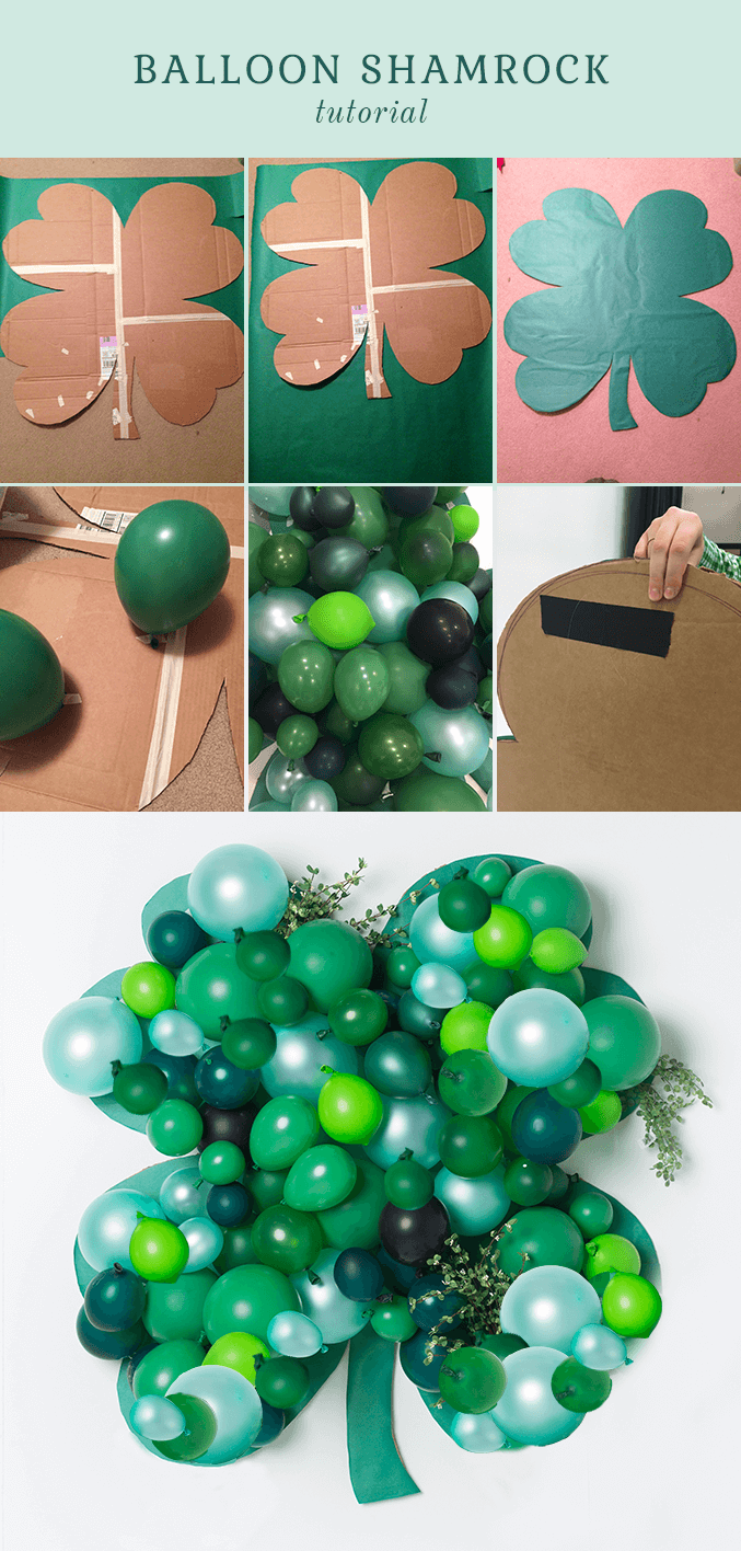 Super Easy DIY Balloon Shamrock