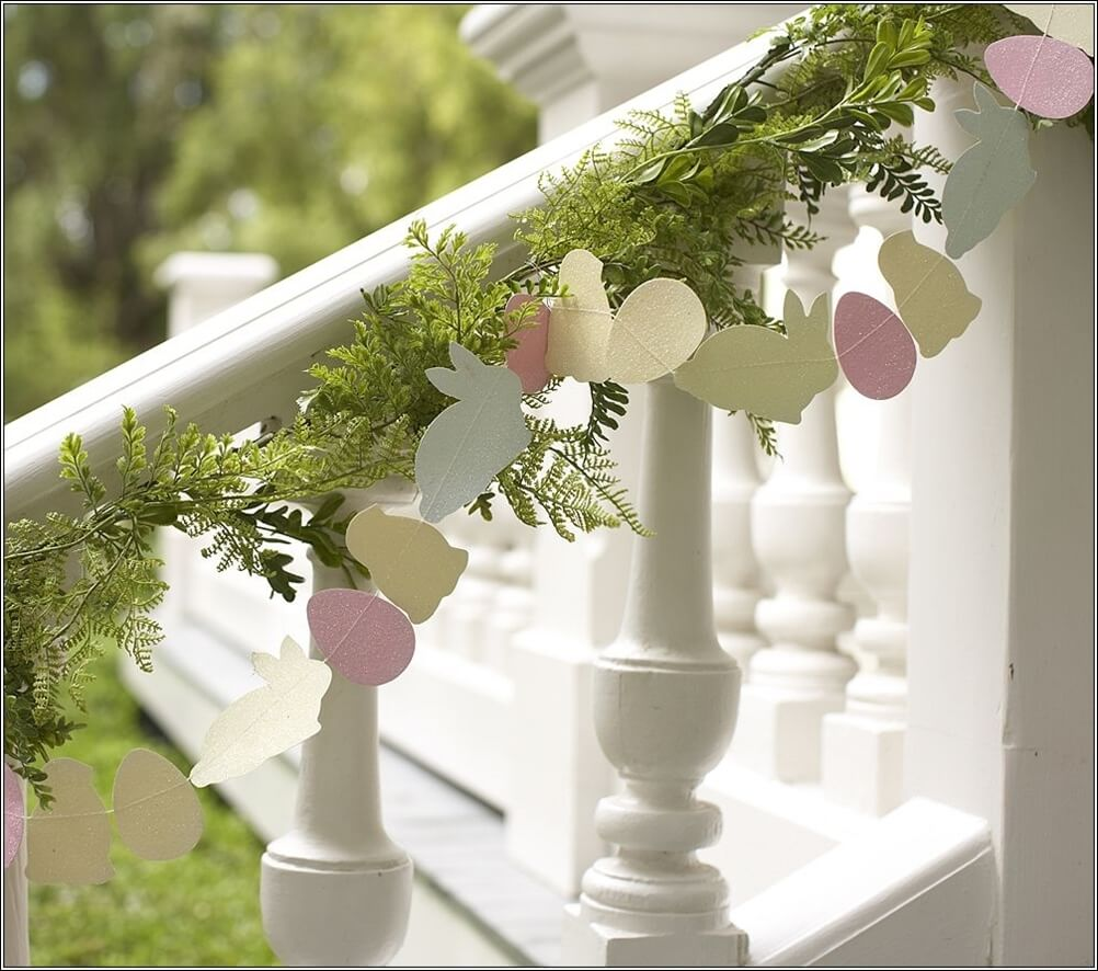 Cute Easter Egg, Bunny, and Chick Garland